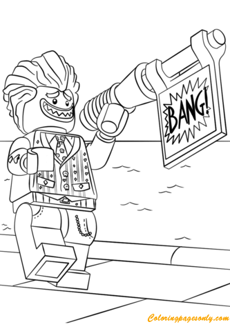 Lego The Joker From The Lego Batman Movie Coloring Pages Cartoons Coloring Pages Free Printable Coloring Pages Online