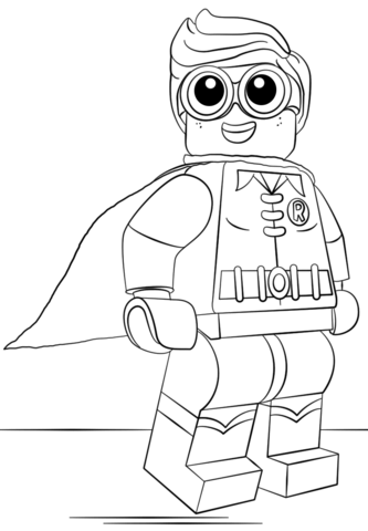 Lego Robin Funny Coloring Page