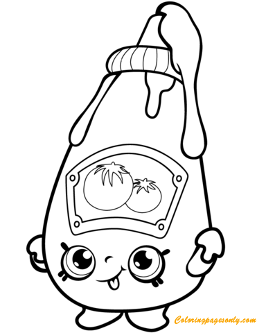 Tommy Ketchup from Shopkin Coloring Page - Free Coloring Pages Online