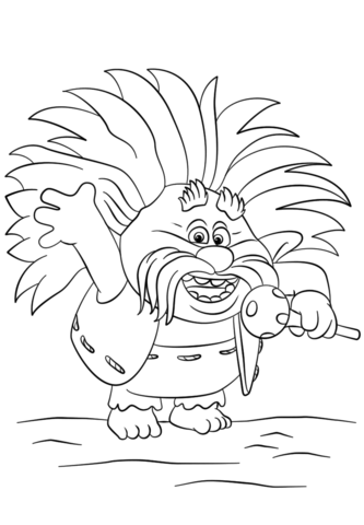 King Peppy Happy Coloring Page