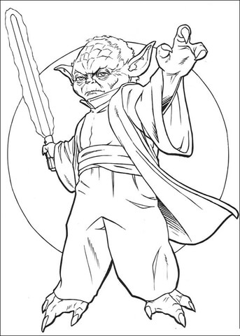 Legendary Master Yoda Coloring Page