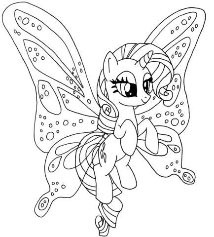 Unicorn Rarity Pony Coloring Page