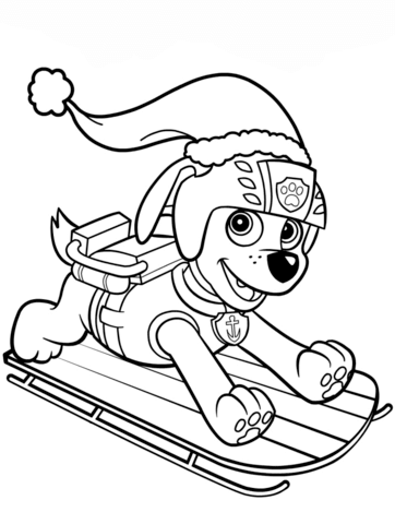 Zuma on Sled Paw Patrol