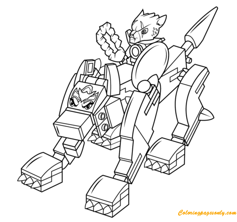 Lego legends of chima wolf coloring page free coloring for Lego chima coloring pages to print