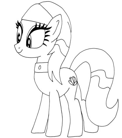 Lotus Blossom My Little Pony Coloring Page