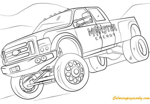 Monster Energy From Monster Truck Coloring Page