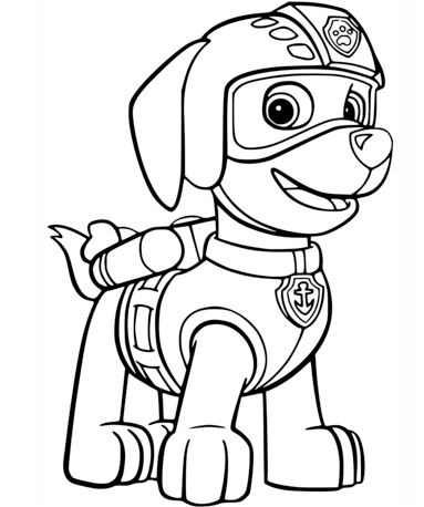 Zuma's Air Rescue Uniform Coloring Page