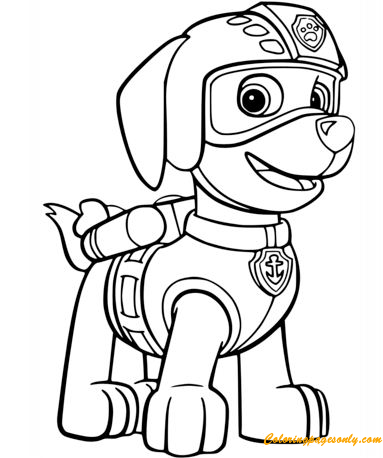 Zuma's Air Rescue Uniform Coloring Page