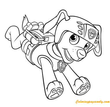 Zuma With Scuba Gear Backpack Coloring Page