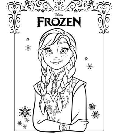 Anna From The Frozen Movie Coloring Page