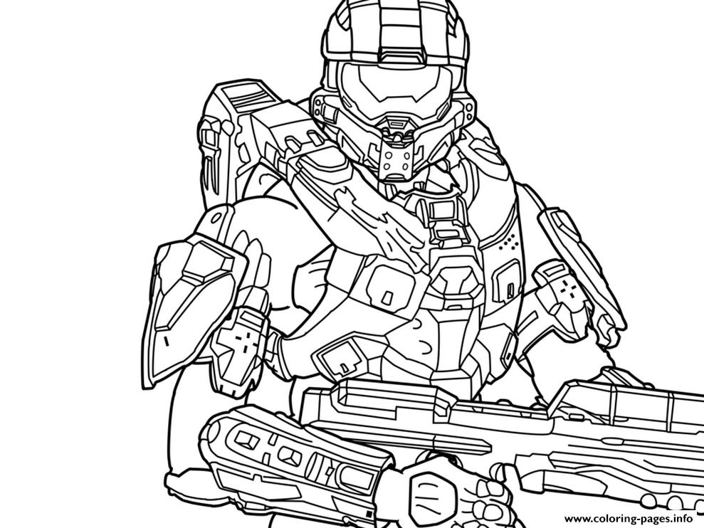 Halo 5 Guardians Coloring Page