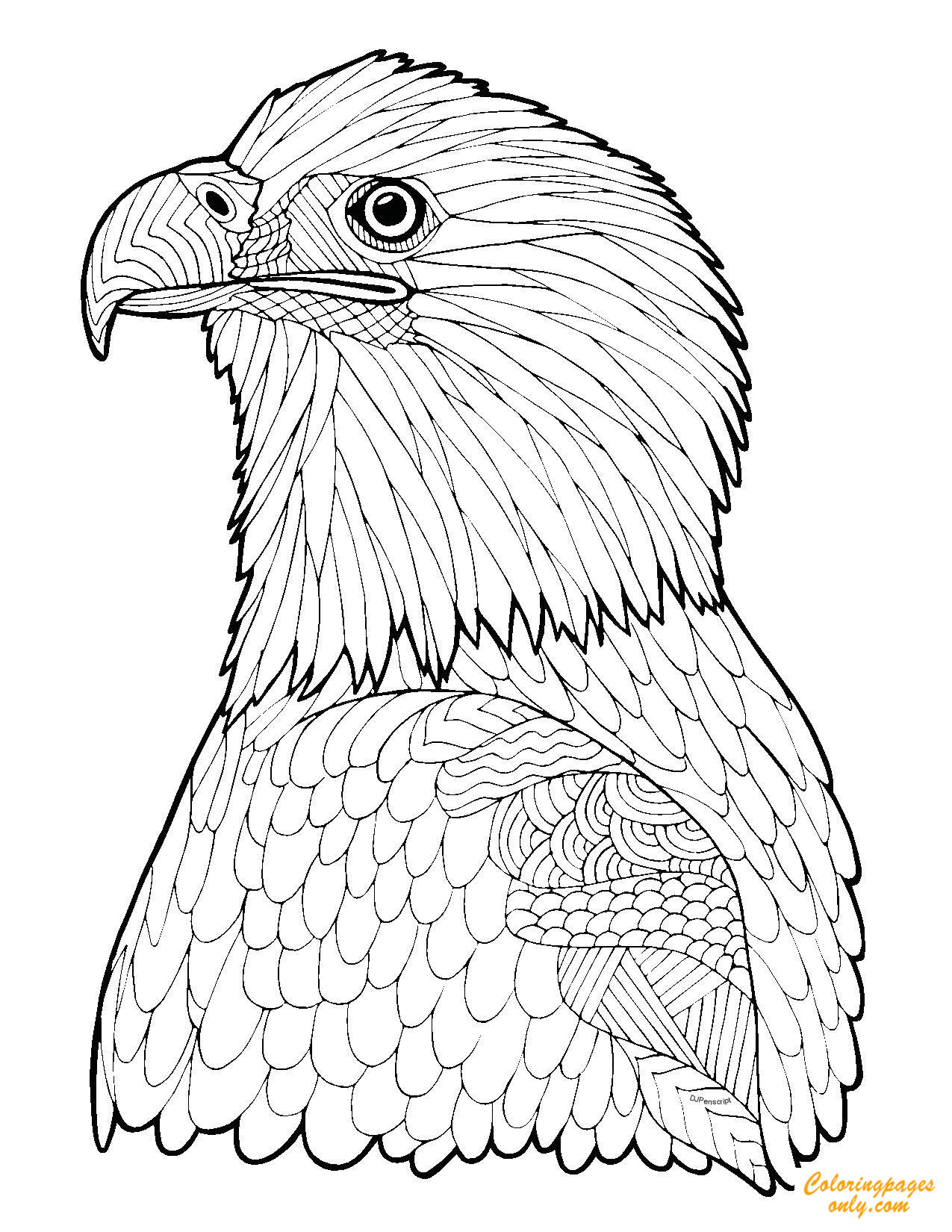 - Zentangle Eagle Coloring Page - Free Coloring Pages Online