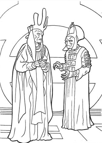 Nute Gunray And Rune Haako Coloring Page