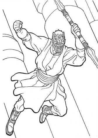 Darth Maul From The Clone Wars Coloring Page