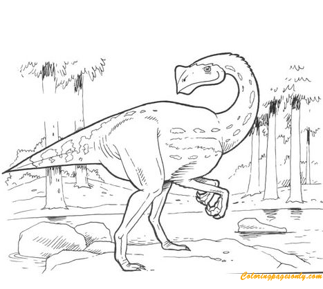 Pergrasylis Dinosaur Coloring Page