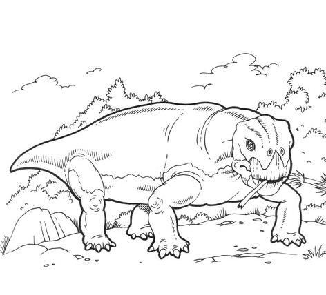 Lystrosaurus Dinosaur Coloring Page