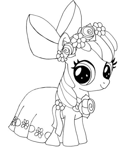 My Little Pony Apple Bloom Coloring Page