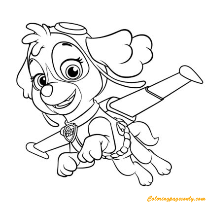 Skye Flying Coloring Page - Free Coloring Pages Online
