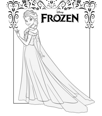 Elsa From Frozen Coloring Page