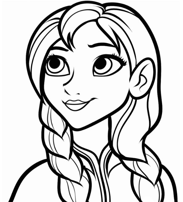 Anna Coloring Page