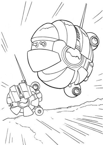 Dark Eye Sith Probe Droid Coloring Page