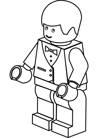Lego City Waiter Coloring Page