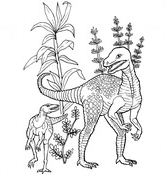 Herrerasaurus Dinosaur Coloring Page