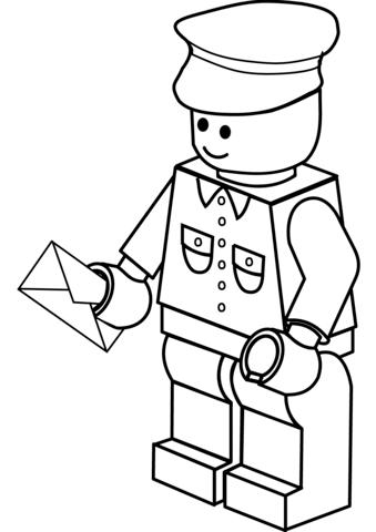 LEGO Postman Post Office Man