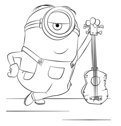 Minion Stuart With Guitar