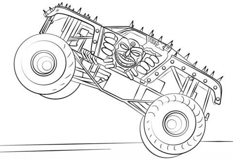 Max-D from Monster Truck Coloring Page