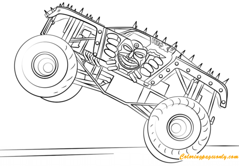 easy monster truck coloring pages - photo#23