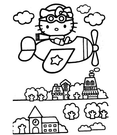 Kitty Flies Over The City