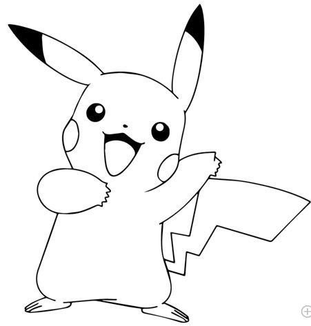 Pikachu From Pokémon Go Coloring Page