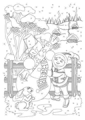 Snowman Receive a Gift