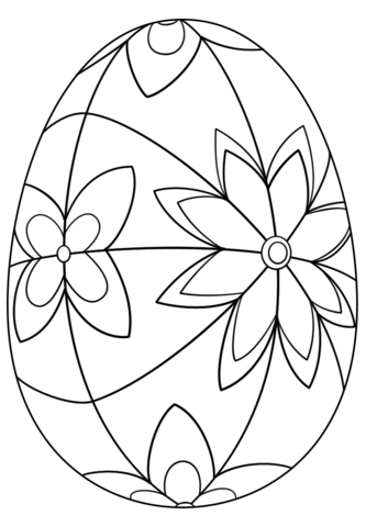 Detailed Flower Easter Eggs