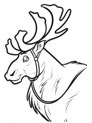 Kristoff Manly Frozen Coloring Page