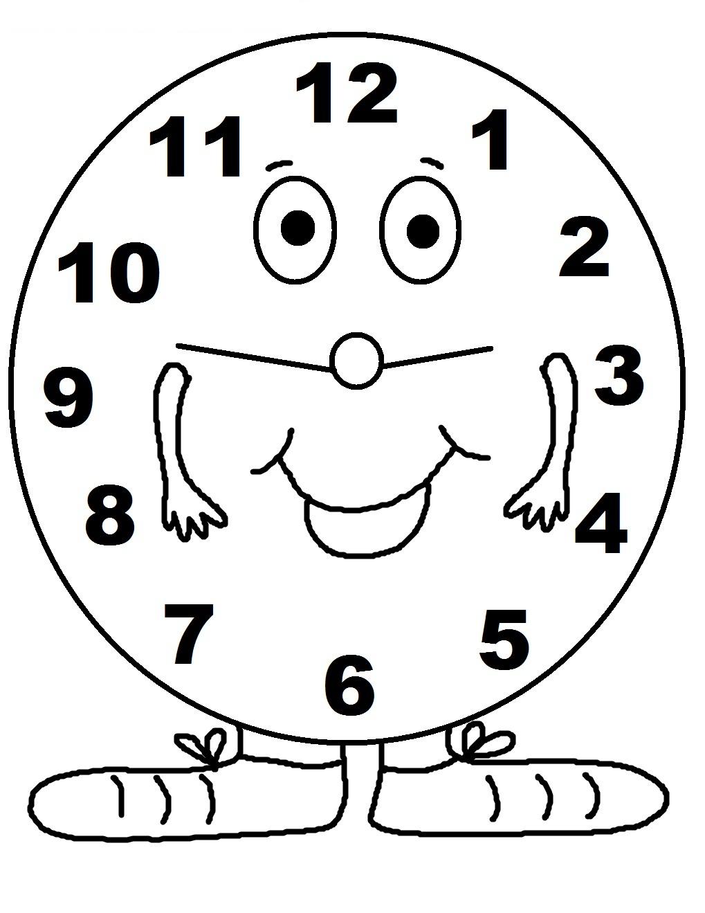 Decorative Clock Coloring Page