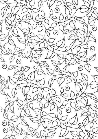 Floral Pattern Design Coloring Page