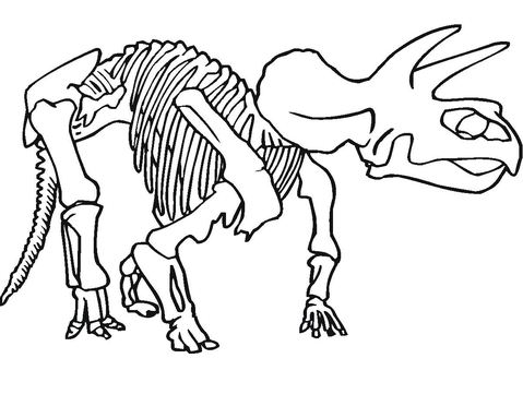 Only Bones Left Coloring Page