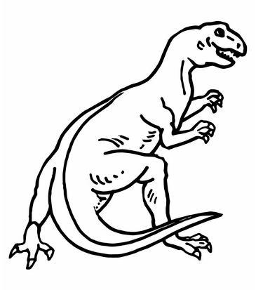Teratosaurus Dinosaur Coloring Page