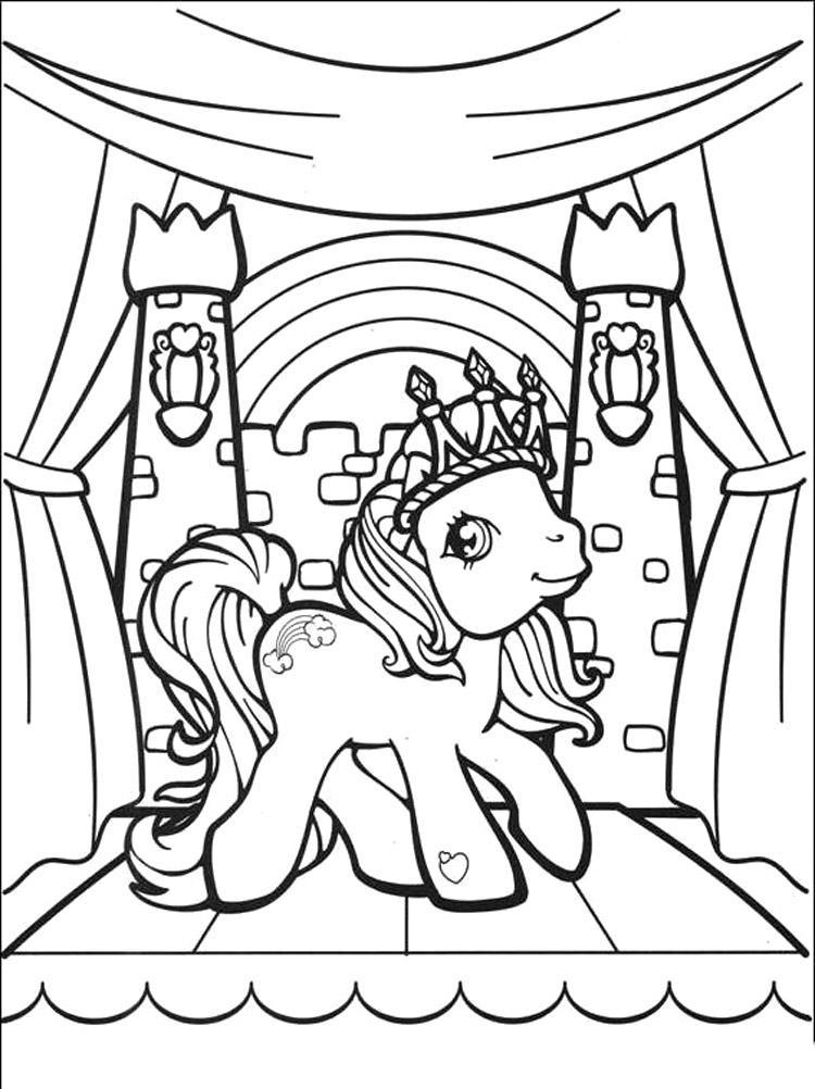 Queen Rainbow Dash Coloring Page