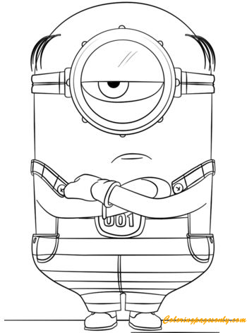 Minion Mel From Despicable Me 3 Coloring Page