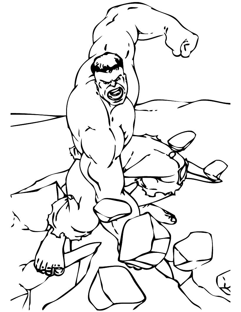 Hulk Breaking the Rocks