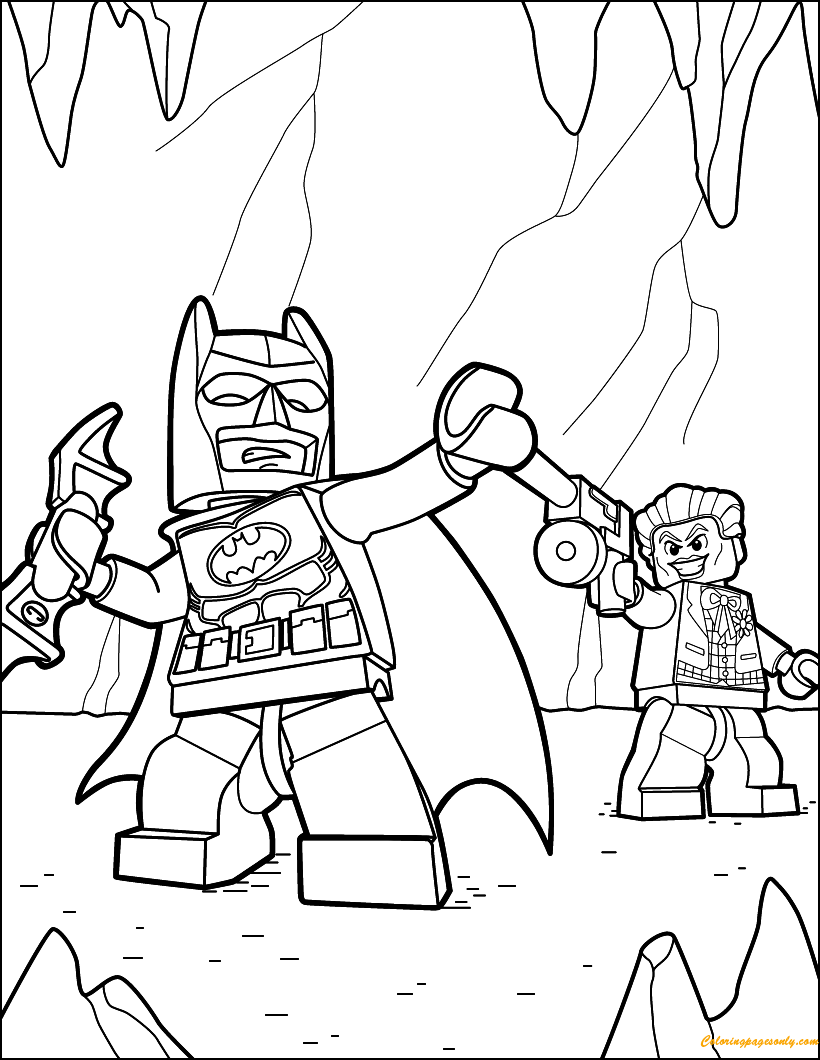 lego batman and joker coloring page free coloring pages