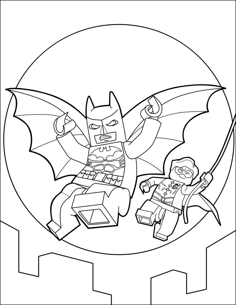 Lego Batman Flying Coloring Page