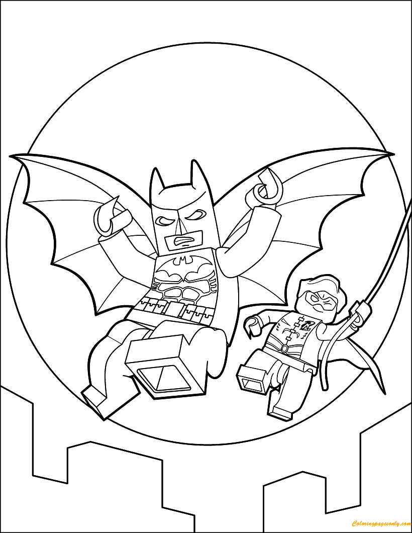 Lego Batman Flying Coloring Page Free Coloring Pages Online