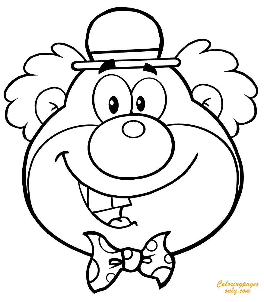 Funny Clown Coloring Page - Free Coloring Pages Online