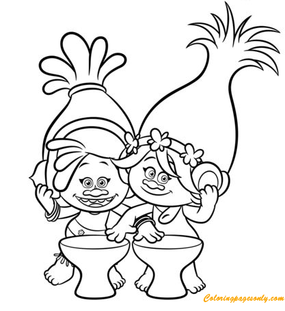Dj Suki & Poppy From Trolls Coloring Pages - Cartoons Coloring Pages - Coloring  Pages For Kids And Adults