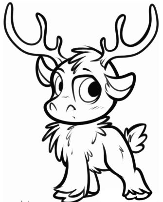 Sven As A Cub Coloring Page