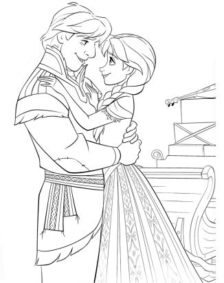 Anna And Kristoff Hugging Each Other